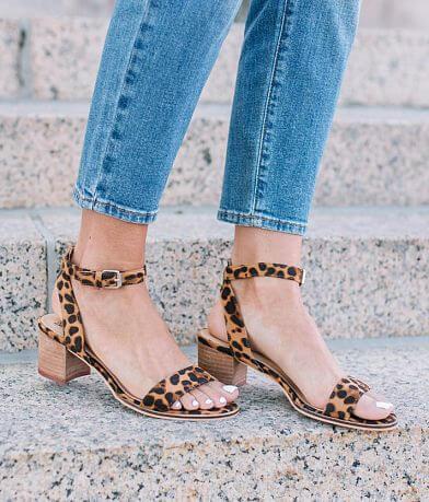 Beast Fashion Carina Leopard Heeled Sandal