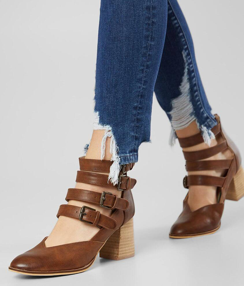 Beast Fashion Claira Strappy Heeled Ankle Boot