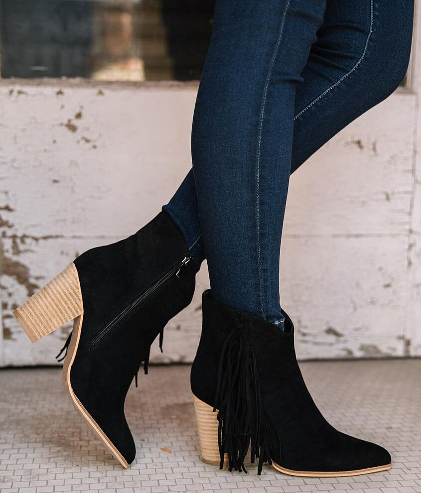 Beast Fashion Jackie Fringe Ankle Boot front view
