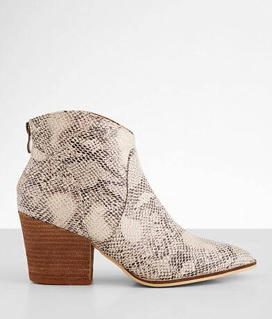 Beast Fashion James Snake Print Ankle Boot