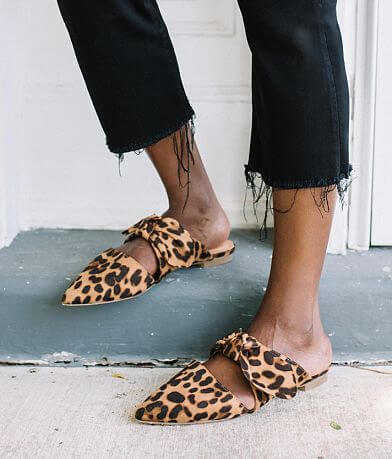 Beast Fashion Maisy Leopard Mule Shoe