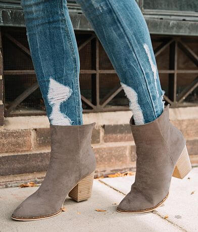 Beast Fashion Weslee Faux Suede Ankle Boot