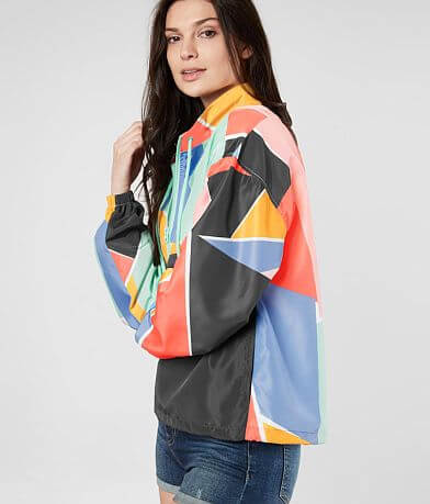 BKE Geometric Windbreaker Jacket