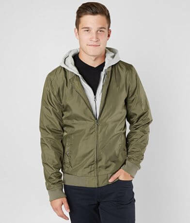 Departwest Olive Hooded Bomber Jacket