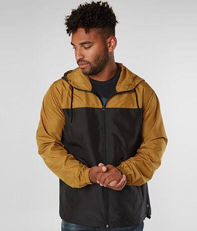 Departwest Color Block Hooded Windbreaker Jacket