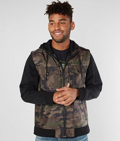Departwest Hooded Camo Jacket