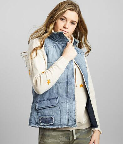 BKE Pieced Chambray Vest