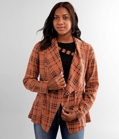 BKE Buffalo Plaid Washed Jacket