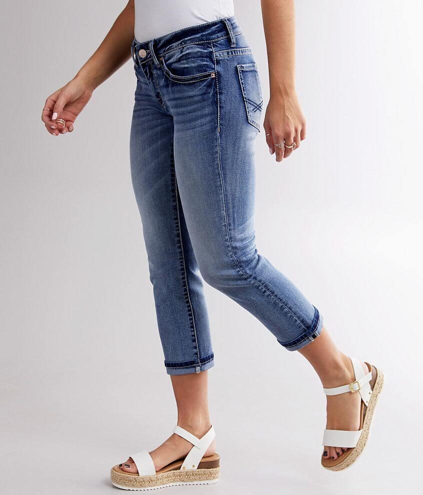 BKE Stella Stretch Cropped Jean front view