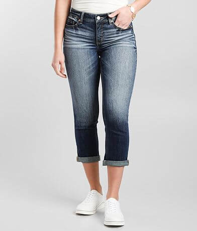 BKE Gabby Cuffed Stretch Cropped Jean