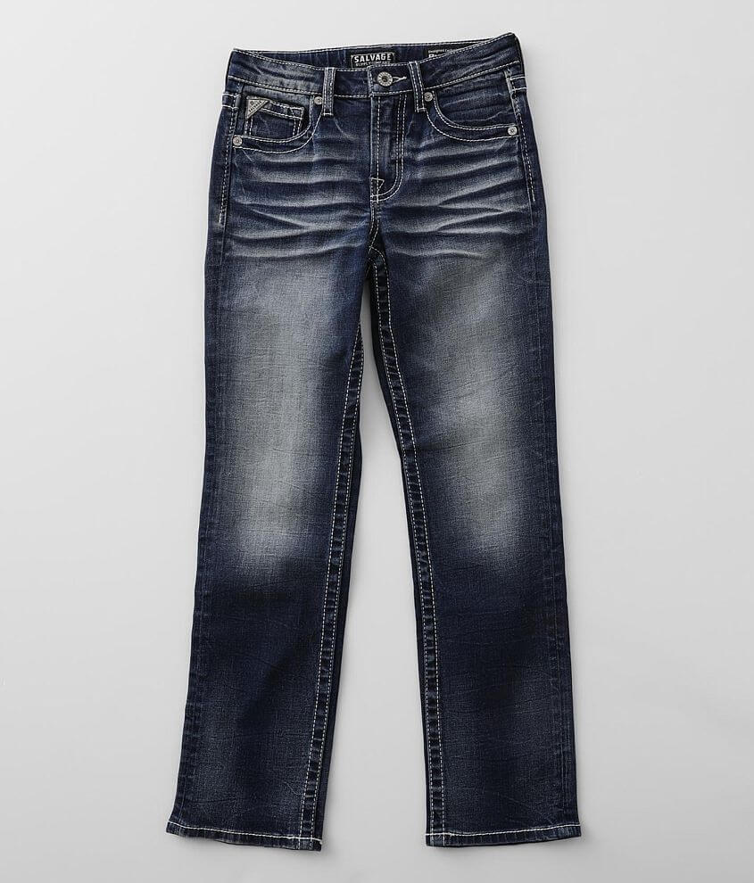 Boys - Salvage Reckless Straight Stretch Jean front view