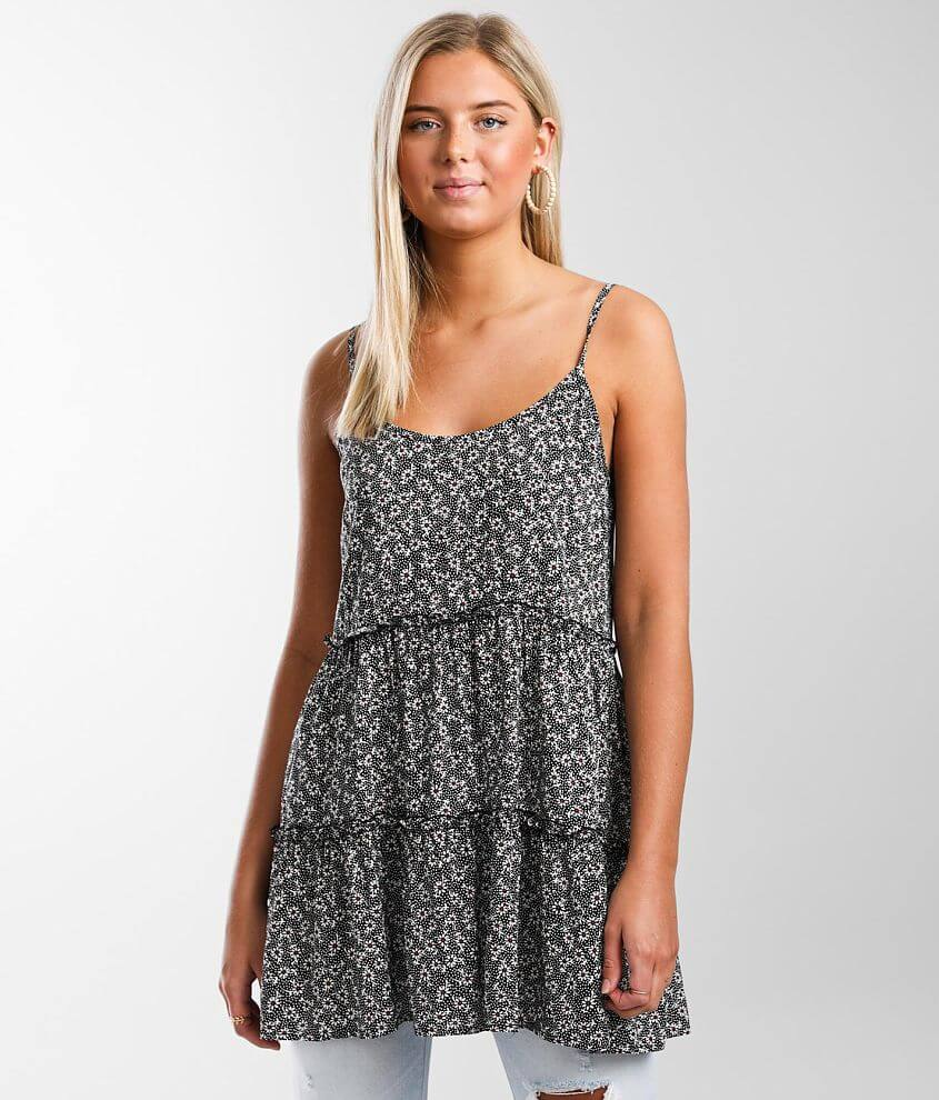 Daytrip Tiered Tunic Tank Top front view