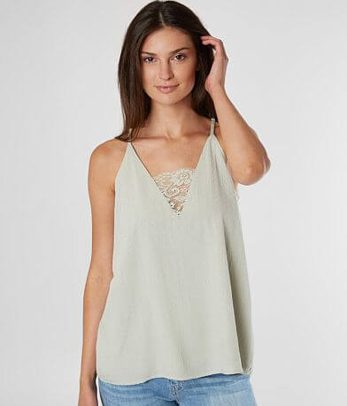 Daytrip Textured Woven V-Neck Tank Top