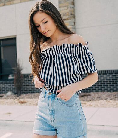 Willow & Root Striped Crop Top
