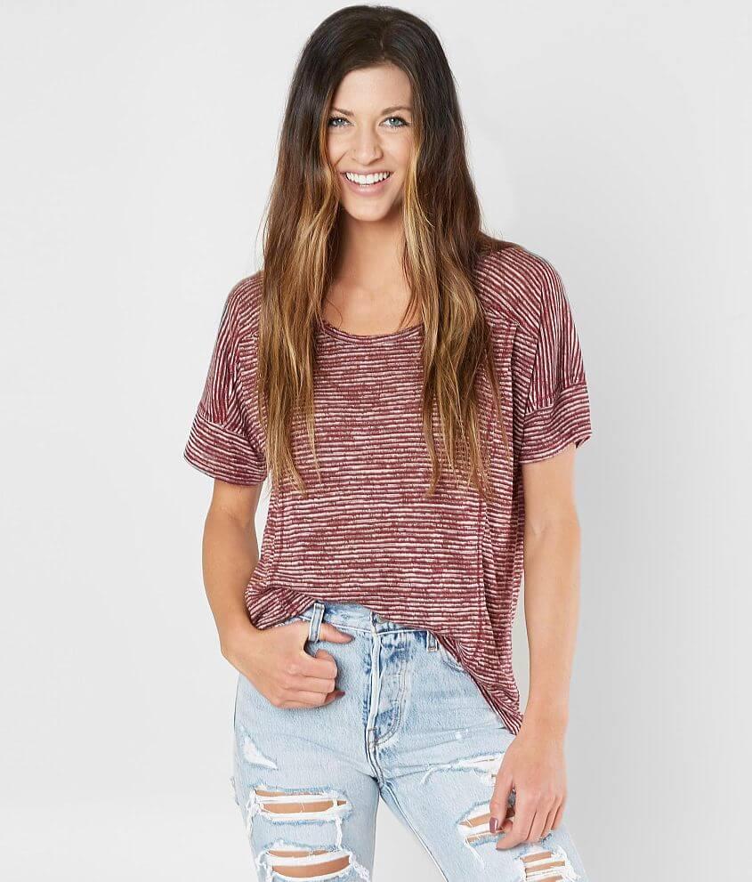 Style 2791/Sku 529231 Shop more: So Soft Raw edge t-shirt Body length 26\\\