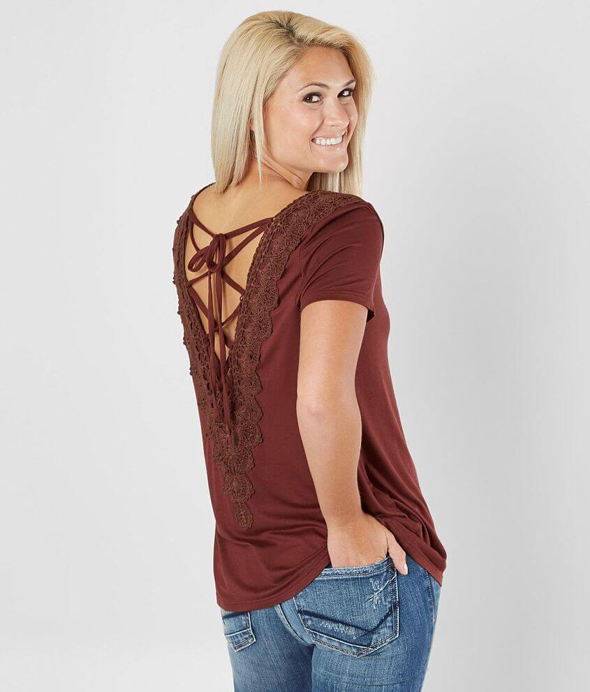 Style 2815/Sku 529670 Solid back lace-up top Body length 26 1/2\\\