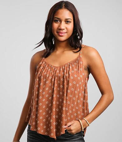 Daytrip Strappy Double V-Neck Tank Top