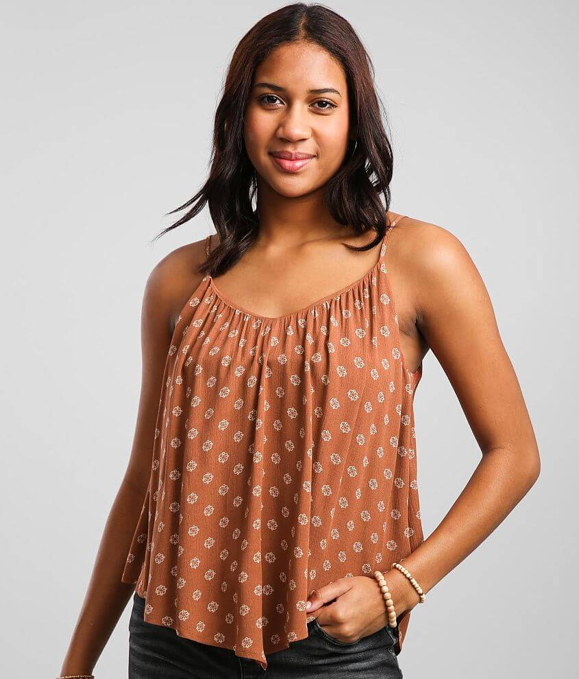 Daytrip Strappy Double V-Neck Tank Top front view