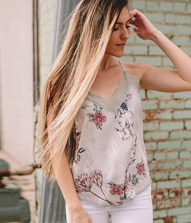 Willow & Root Satin Floral Tank Top