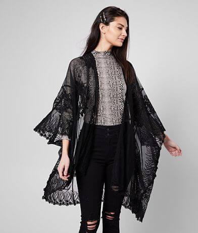 Daytrip Lace Mesh Kimono