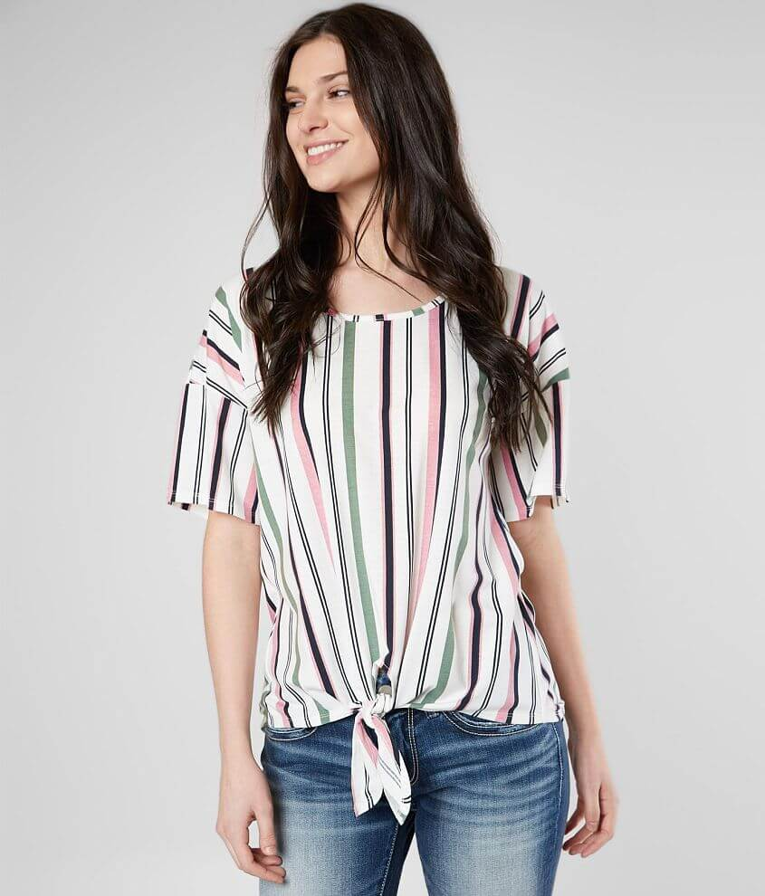 df65266dbf4 Daytrip Striped Front Tie Top - Women's Shirts/Blouses in Multi | Buckle