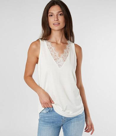 Daytrip Eyelash Lace Tank Top