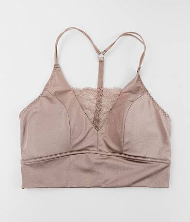 Daytrip T-Back Eyelash Lace Inset Bralette