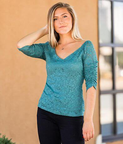 Willow & Root Lace Eyelet Top