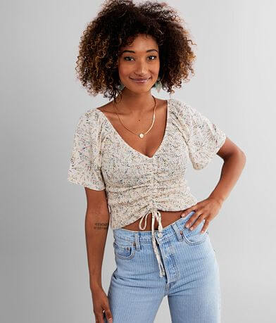 Willow & Root Floral Smocked Top