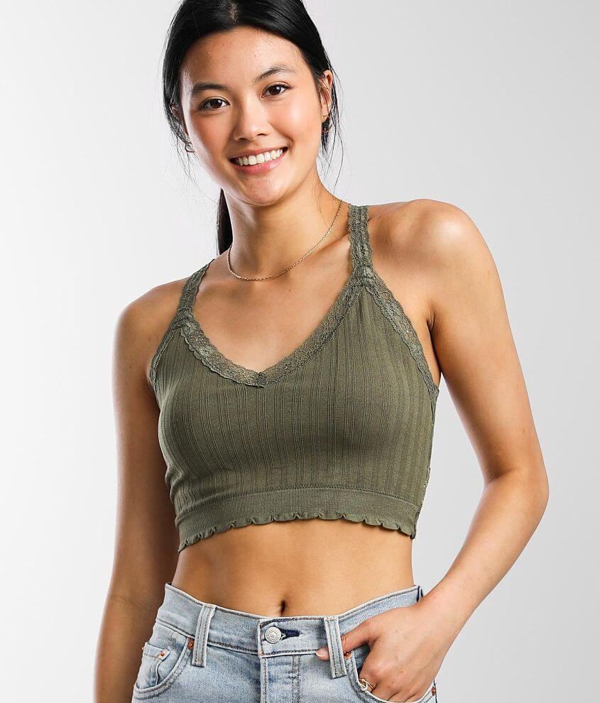 BKEssentials Full Coverage Strappy Lined Bralette front view