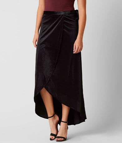 Daytrip Velvet Wrap Skirt