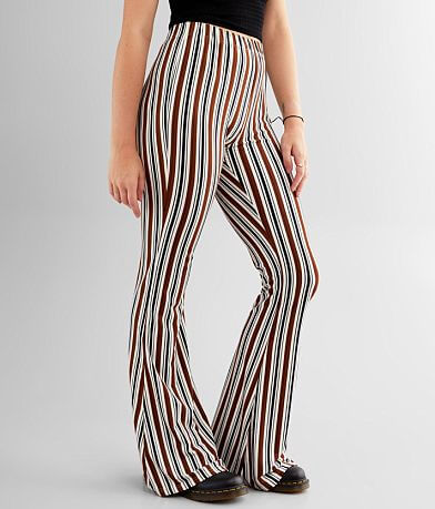 Daytrip Striped Knit Flare Pant