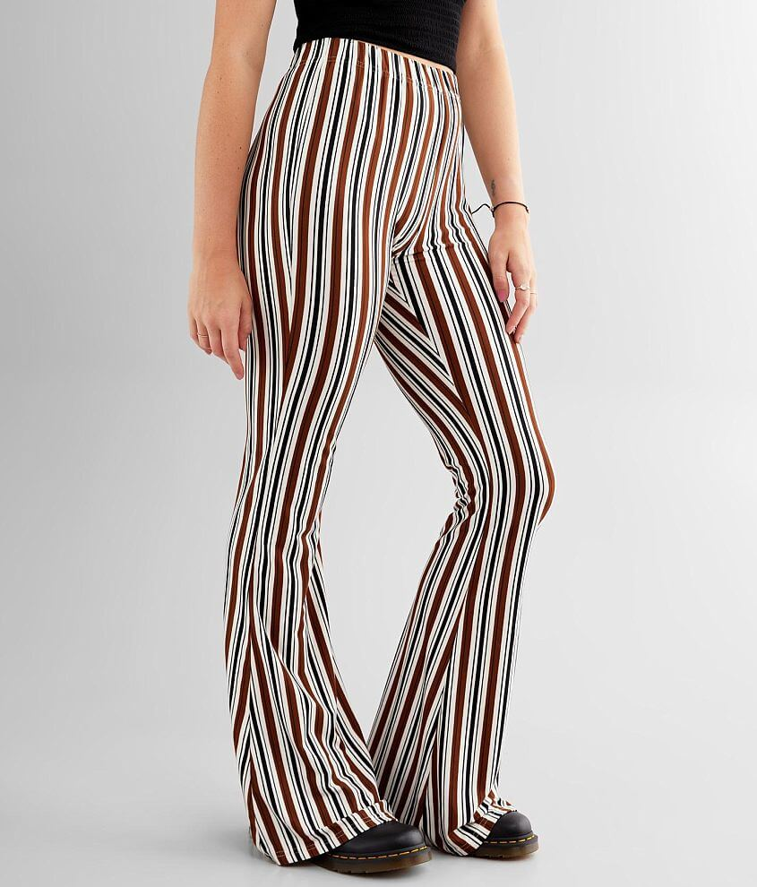 Daytrip Striped Knit Flare Pant front view