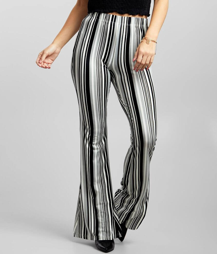 Daytrip Vertical Striped Flare Pant front view