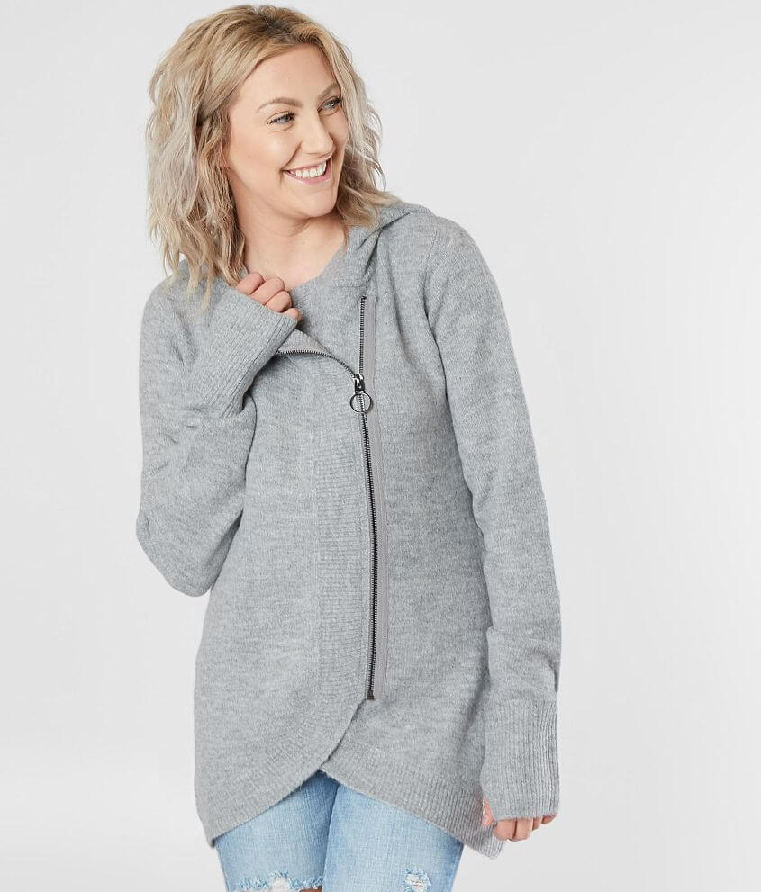 26226c6dbb77b Bench Asymmetrical Hooded Sweater - Women s Sweaters in Winter Grey ...