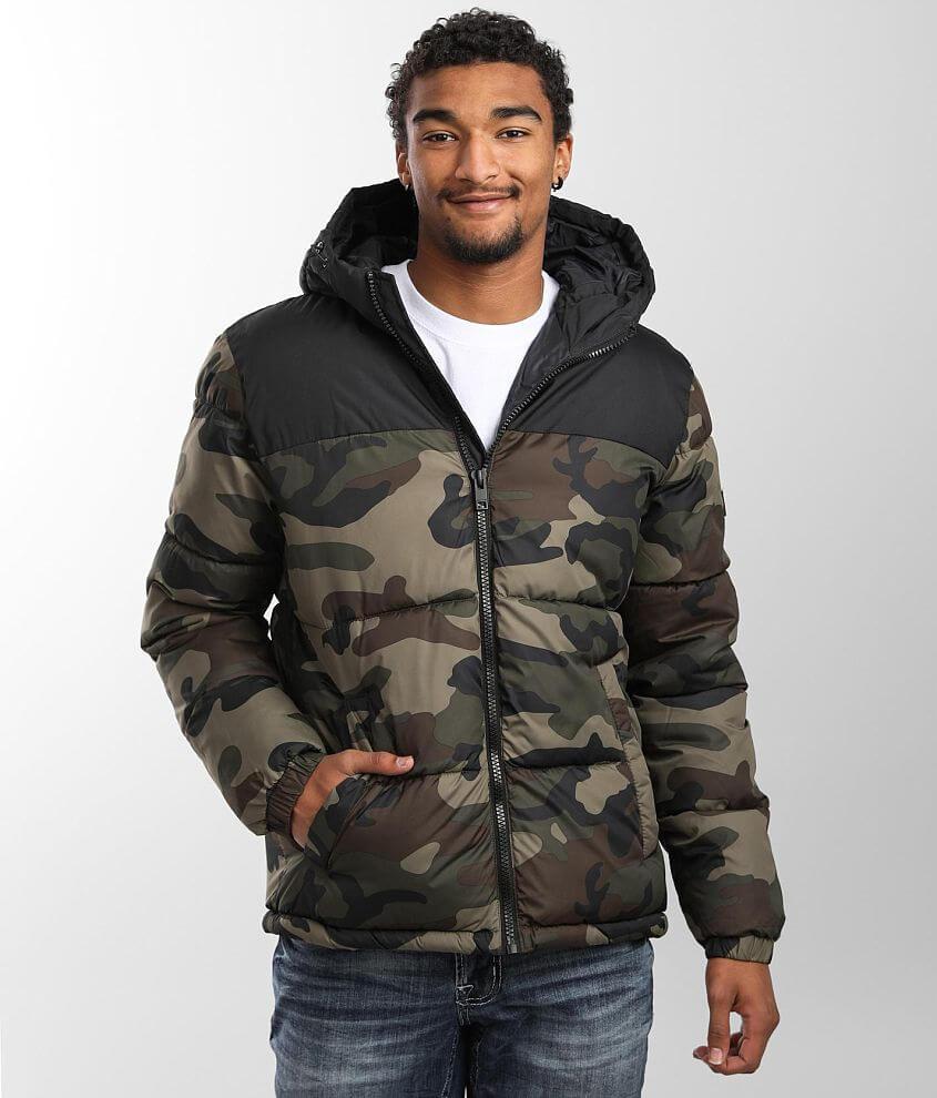Jack&Jones® Drew Hooded Puffer Jacket front view
