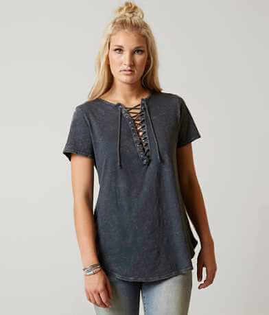 Gilded Intent Lace-Up T-Shirt