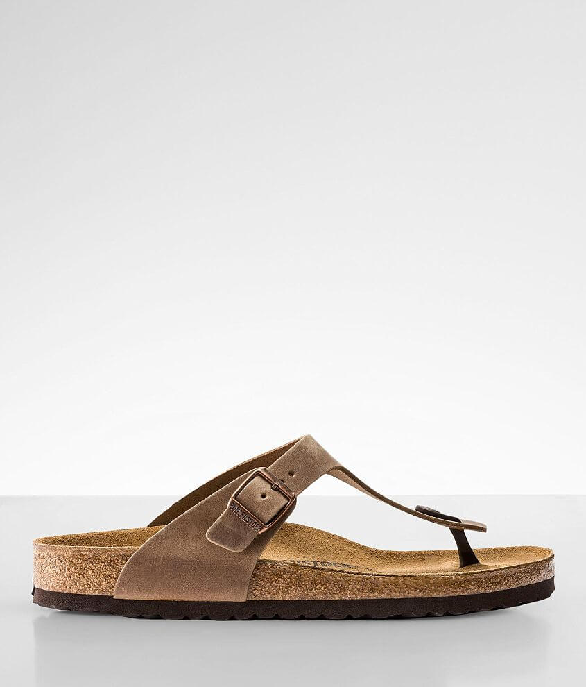 Birkenstock® Gizeh Oiled Leather Sandal front view