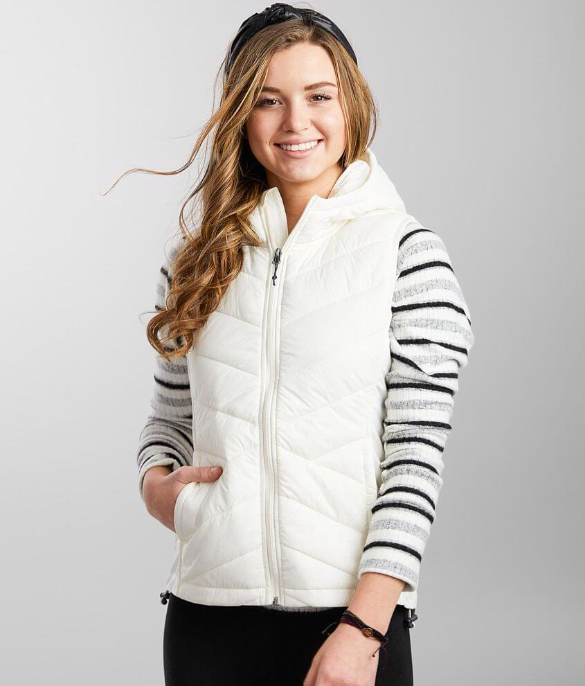 BKE core Hooded Puffer Vest front view