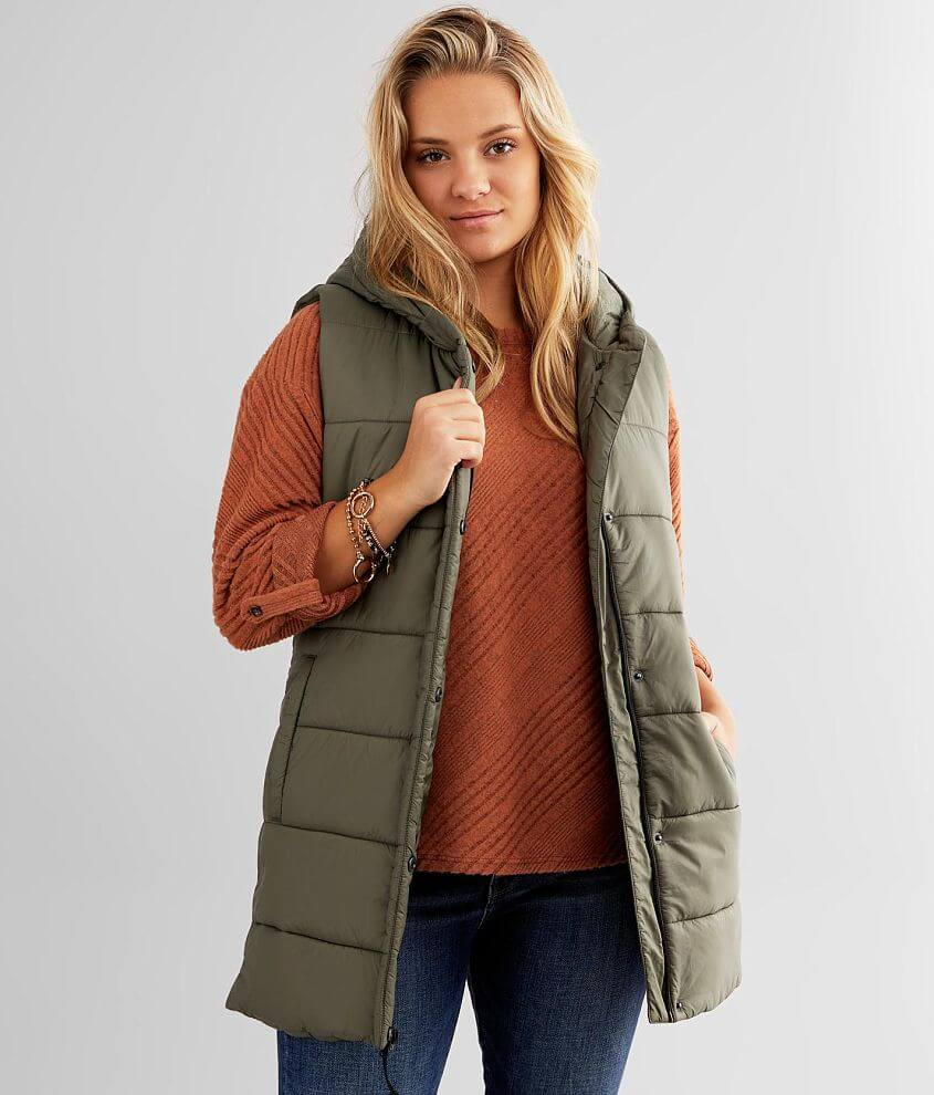 BKE Hooded Puffer Vest front view