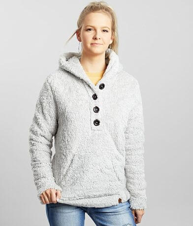 Liv Outdoor Celesta Grizzly Hooded Henley Pullover