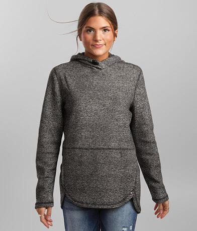 BKE core Heathered Knit Hooded Sweatshirt