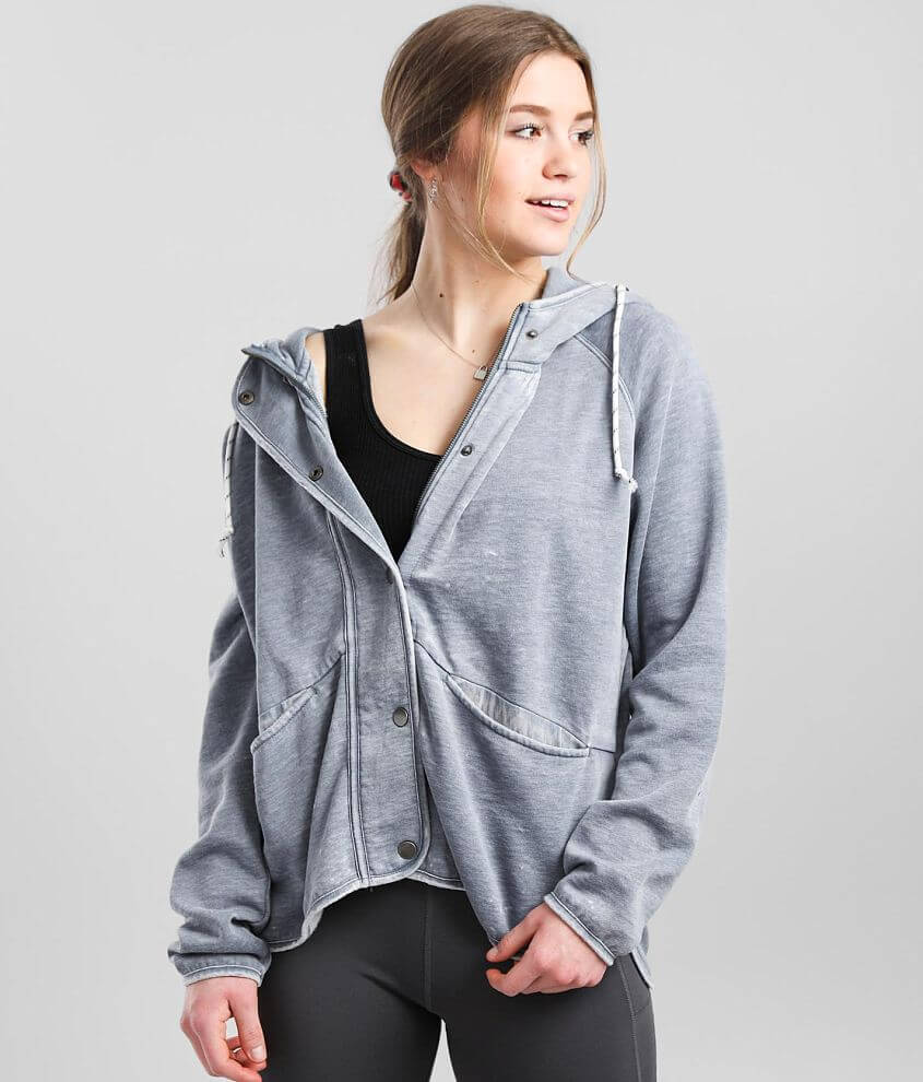 BKE core Burnout Hooded Jacket front view