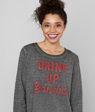 twine & stark Drink Up Grinches Sweatshirt