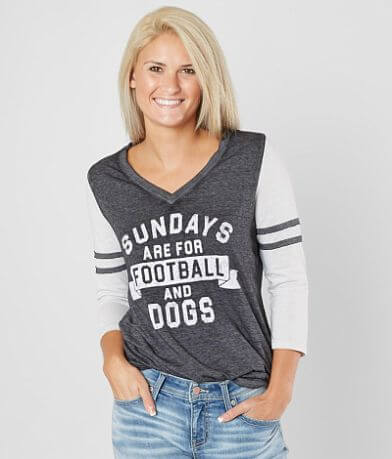twine & stark Sundays Football Dogs T-Shirt