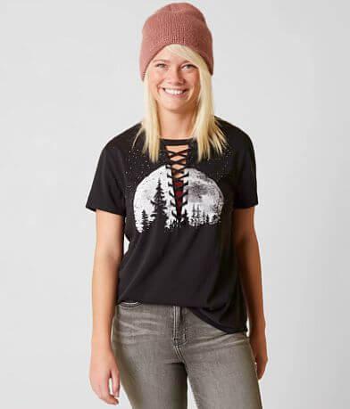 Modish Rebel Lace-Up T-Shirt