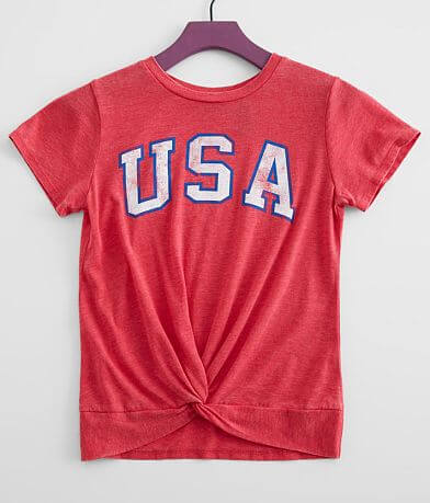 Girls - Daytrip USA Twisted Hem T-Shirt