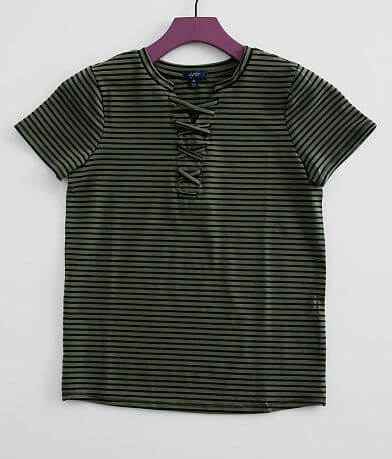 Girls - Daytrip Striped Lace-Up T-Shirt