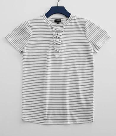 Girls - Daytrip Metallic Striped T-Shirt