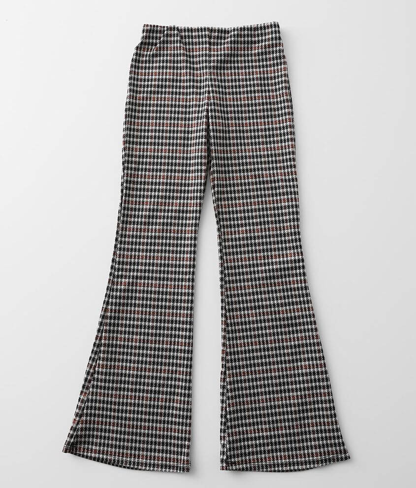 Girls - Gilded Intent Houndstooth Flare Pant front view